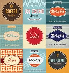 Label Designs vector image vector image