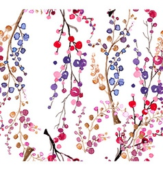 Seamless watercolor floral background vector image