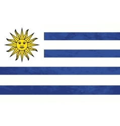 True proportions Uruguay flag with texture vector image