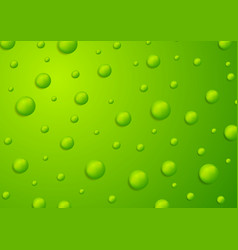 Abstract green 3d drops background vector