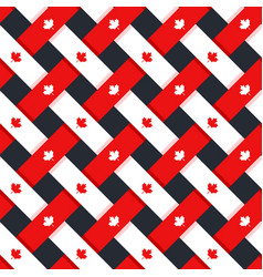 canada seamless pattern vector image