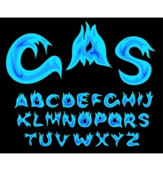gas alphabet vector image vector image