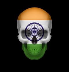 Indian flag skull vector