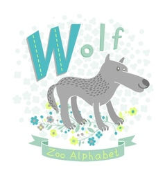 Letter W - Wolf vector image