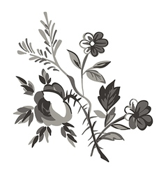 Meadow flower and leaf bouquet isolated on white vector image vector image
