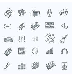 recording media icon set vector image