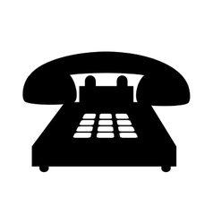 telephone handset call vector image