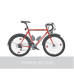 trekking bicycle configuration vector image vector image