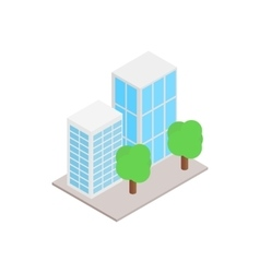 Office buildings with trees icon vector image vector image