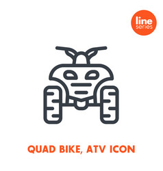 quad bike line icon all terrain vehicle atv vector image