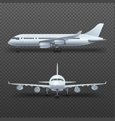 Realistic 3d detail airplane commercial jet vector image