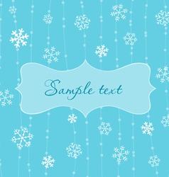 retro snowflakes card in blue vector image