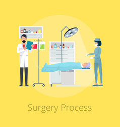 surgery process visualization vector image