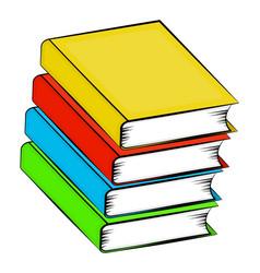 A pile of books cartoon symbol icon design vector
