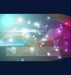 abstract colorful background with colorful waves vector image