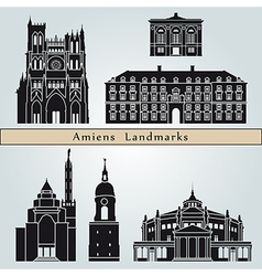 Amiens landmarks and monuments vector