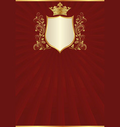 Antique background and royal frame vector
