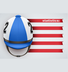 background of jockey statistics vector image