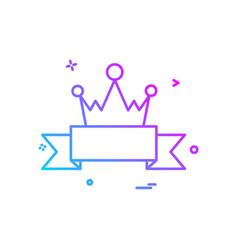 badge crown icon design vector image