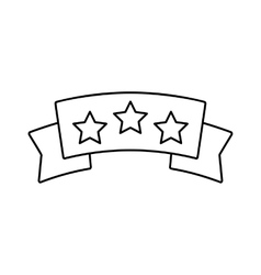 Banner with stars line icon vector