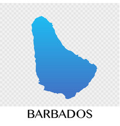 barbados map in north america continent design vector image