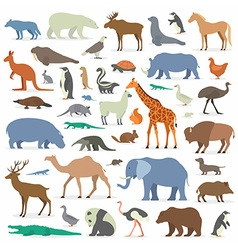 Big Animals Set vector image