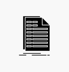 Bill excel file invoice statement glyph icon vector