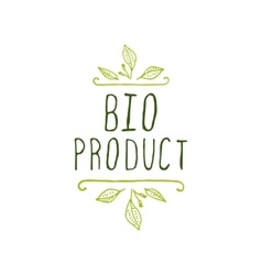 Bio product - label on white background vector