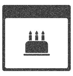 Birthday Cake Calendar Page Grainy Texture Icon vector