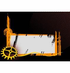 black and orange industrial frame vector image