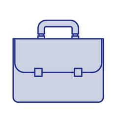 Blue silhouette of executive briefcase vector