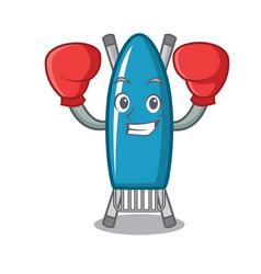 boxing iron board character cartoon vector image