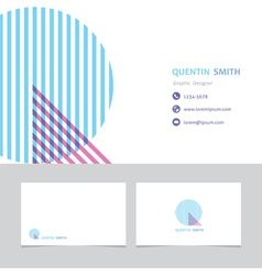Business card template with a letter q vector