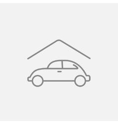 Car garage line icon vector image
