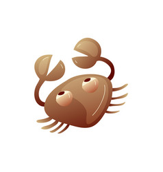 Cartoon crab on white background water life vector