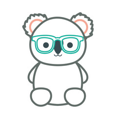 cartoon koala with glasses vector image