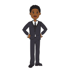 Cartoon man business elegant manager vector