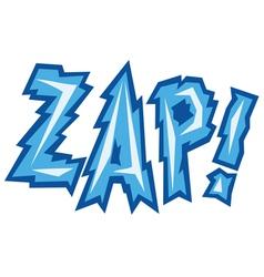 cartoon - zap vector image