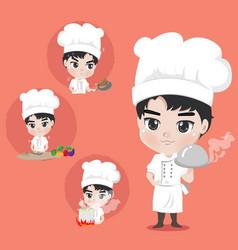 Chef boy action vector