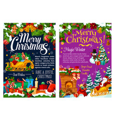 christmas greetings decorations gifts vector image