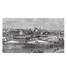 City jerusalem vintage vector