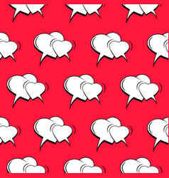 Comic romantic and amorous seamless pattern vector
