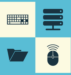 computer icons set collection of computer mouse vector image