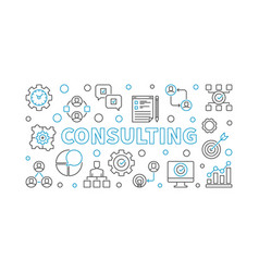 Consulting horizontal business outline vector