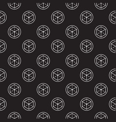 Dark augmented reality seamless pattern vector