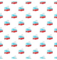 Electric train pattern cartoon style vector