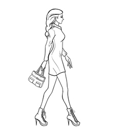 Elegant stylish woman vector image