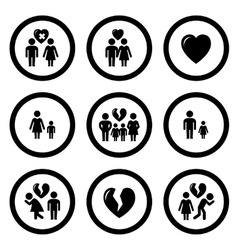 Family situation symbols vector