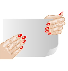Female hands and nails vector