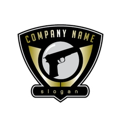 Fire arm store logo vector